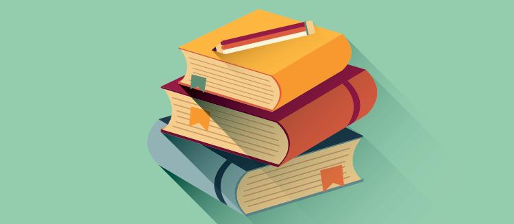 En bunke med bøker