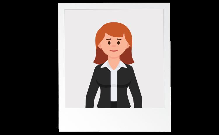 Portrettbilde av dame i business-klær